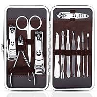 Zacro 12 en 1 Set de Coupe-ongles Coupe-cuticules Ciseaux à ongles en Acier Inoxydable Soin des Ongles Outil de Manucure Pédicure