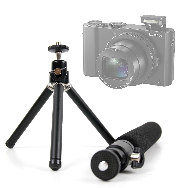 Lightweight Ultra Portable Telescopic 2 In 1 Tripod Monopod Panasonic Lumix Dmc Lx10 Digital Camera Black