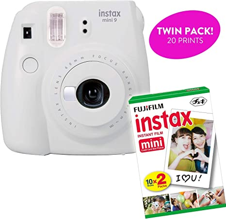 Fujifilm Instax Mini 9 Cámara de impresión instantánea (Certificado renovado) Plus Twin Pack de Inicio de Película Bundle 10 Hojas x 2=20 Blanco Marco instantáneo fotografía Hojas: Amazon.es: Electrónica