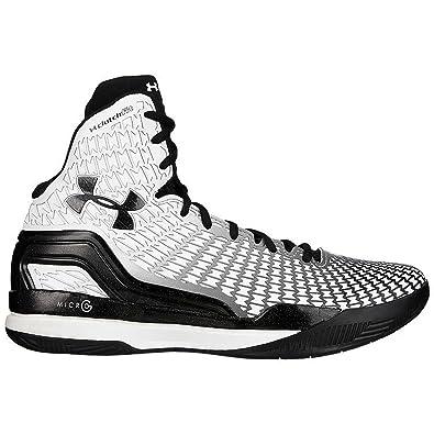 sports shoes 5ba26 709aa Under Armour Men s UA ClutchFit Drive Mid Basketball Shoes, White Black, ...
