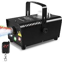 MVPOWER Mini-mistmachines, 500 W, mist machines met draadloze afstandsbediening en 7 gekleurde LED-lampen, voor…