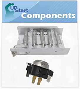 279838 Dryer Heating Element & 3387134 Cycling Thermostat Kit Replacement for Whirlpool SEDX600JQ1 Dryer - Compatible with 279838 and 3387134 Heater Element and Thermostat Combo Pack