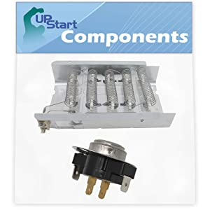 279838 Dryer Heating Element & 3387134 Cycling Thermostat Kit Replacement for Estate TEDS740JQ1 Dryer - Compatible with 279838 and 3387134 Heater Element and Thermostat Combo Pack