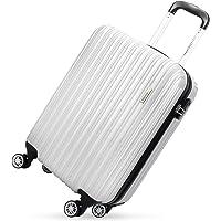 DONPEREGRINO Valigia Rigida ABS, Bagaglio Cabina, Trolley 55cm a 360 gradi con 8 Ruote, Spinner omologato per Ryanair, Easyjet, British Airways, Virgin Atlantic e Altro …