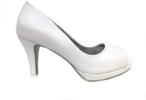 Scarpe Sposa Tacco Medio.Decolte Spuntato Bianco Sposa Elegante Scarpe Sposa Tacco Basso