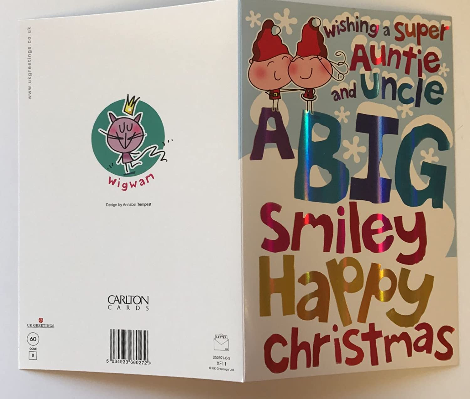 Amazon cute super auntie amp uncle wishing christmas humour amazon cute super auntie amp uncle wishing christmas humour both of new uk greeting card kitchen dining m4hsunfo