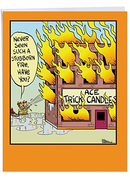 Funny Trick Candles Birthday Congratulations Card With Envelope 85 X 11 Inch