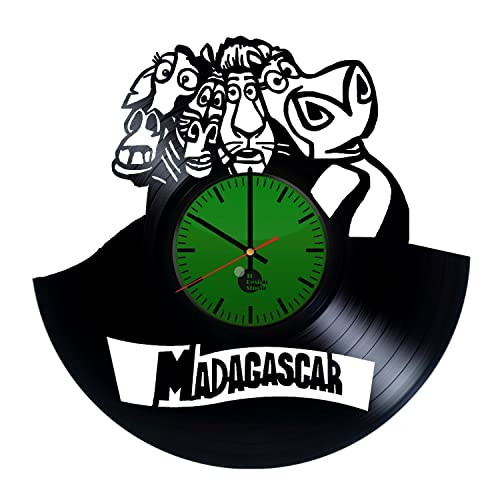 Amazon.com: Madagascar Handmade Vinyl Record Wall Clock Fun gift ...