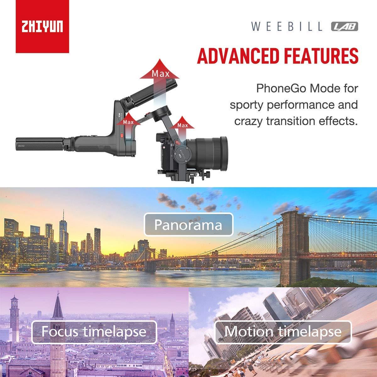 Zhiyun WEEBILL Lab Creator Kit de Estructura versátil, Redefine el estabilizador Manual para cámaras sin Espejo, 3 kg de Carga, transmisión de Imagen ...