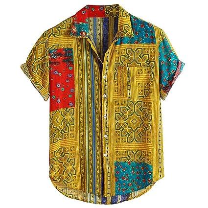 Huazi2 Men Women Hawaiian Shirt Casual Beach Holiday Short Sleeve Shirt 1