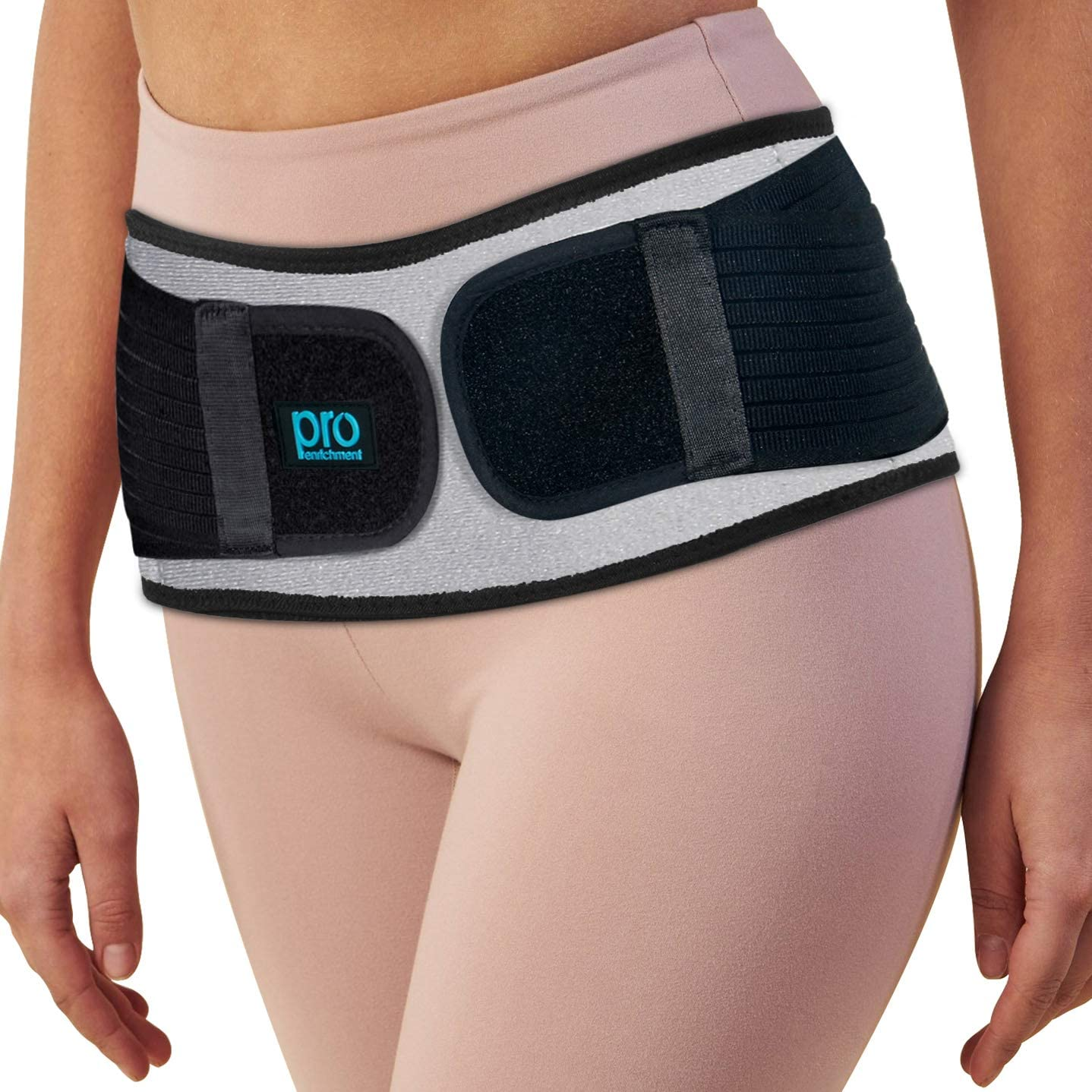 Sacroiliac Hip Belt for Women & Men That Alleviate Sciatica, Lower Back & Lumbar Pain Relief. Diamond Back Brace Provides SI Joint Pelvic Support Nerve Compression & Stability Anti-Slip (Regular Size): Health & Personal Care