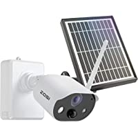 ZOSI C306 Rechargeable Battery Security Camera with Solar Panel Power Supply, Support Indoor Outdoor Home Office…