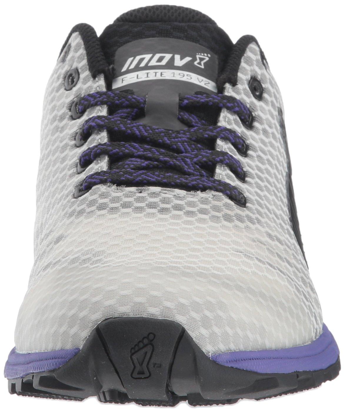 Inov-8 Women's F-Lite 7 195 V2 (W) Cross Trainer B073VSMNHC 7 F-Lite N US|Grey/Purple 87180a