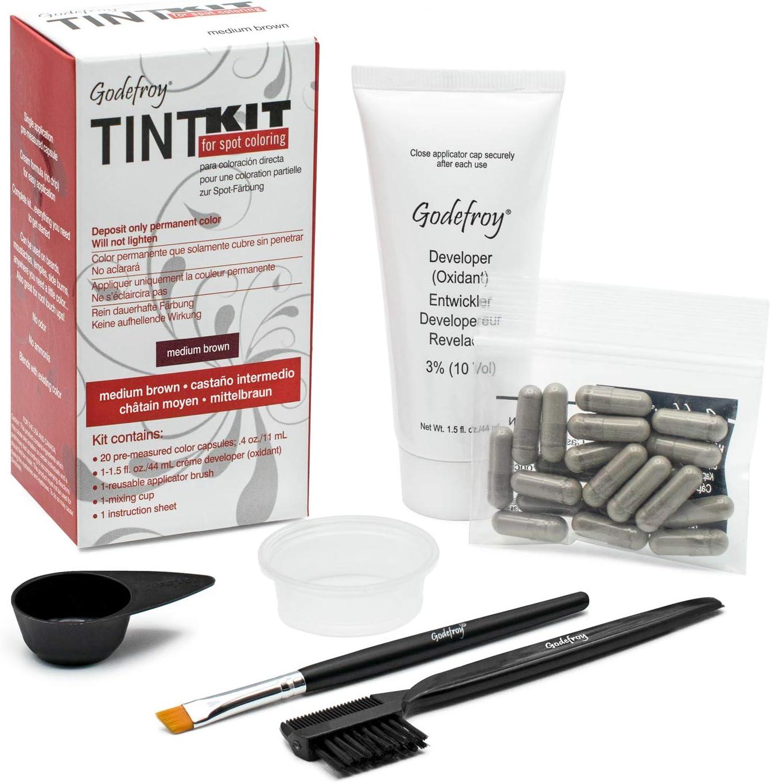Godefroy - kit de tinte para Cejas o barba – Juego de colores ...