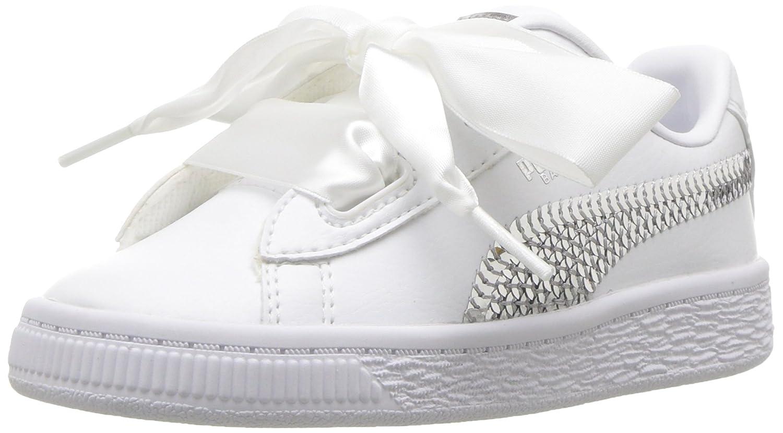 PUMA Kids Basket Heart Bling Sneaker