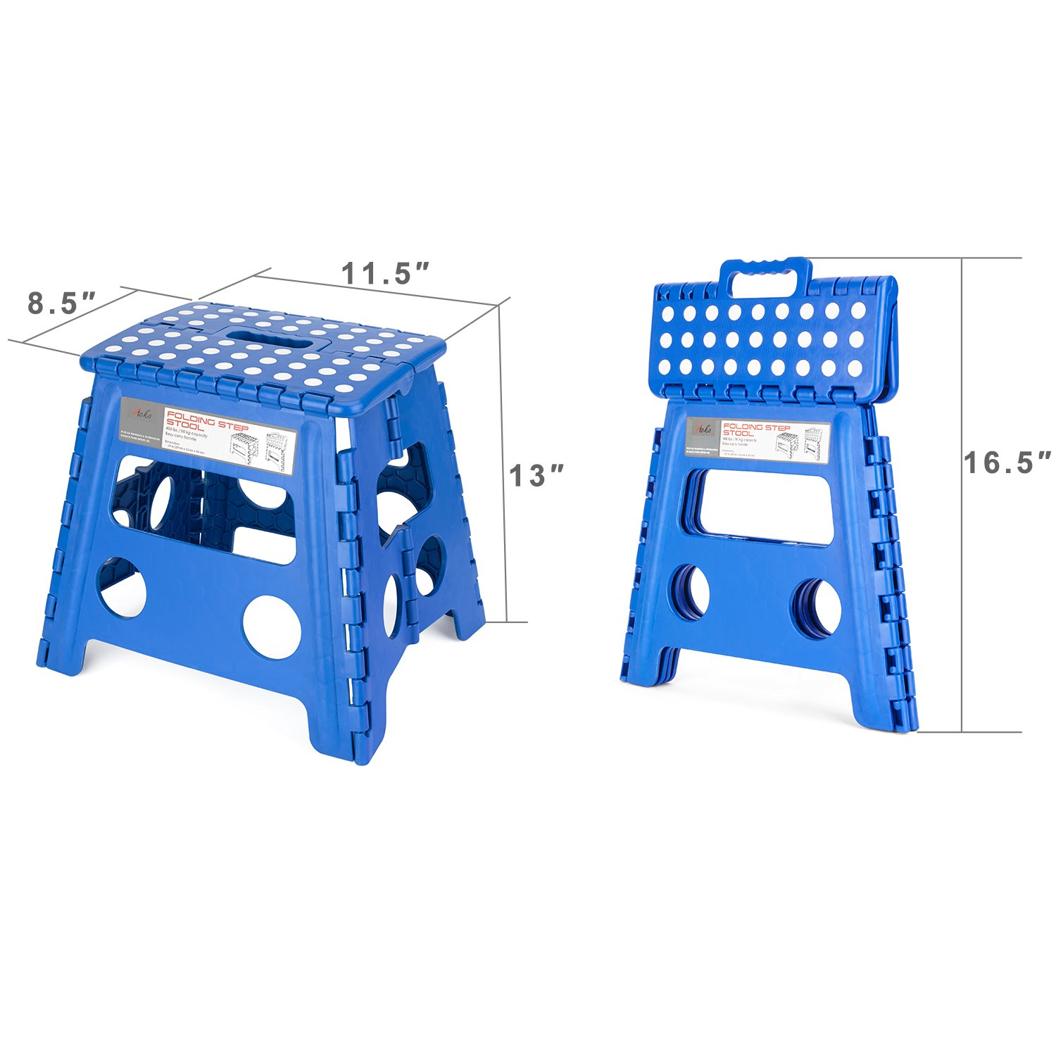 Amazon.com  Acko Folding Step Stool - 13 inch Height Premium Heavy Duty Foldable Stool For Kids u0026 Adults Kitchen Garden Bathroom Stepping Stool (Blue)  ...  sc 1 st  Amazon.com & Amazon.com : Acko Folding Step Stool - 13 inch Height Premium ... islam-shia.org