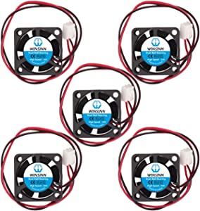 WINSINN 25mm Fan 24V Dual Ball Bearing Brushless 2510 25x10mm for Cooling DIY Mini Cooling PCB/Notebook/Graphics Card - High Speed (Pack of 5Pcs)