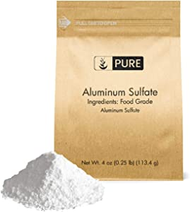 Pure Aluminum Sulfate (4 oz.), Pure Dry Alum, Soil Acidifier, Hide Tanner, Water Treatment (Also Available in 1 lb & 2 lb)