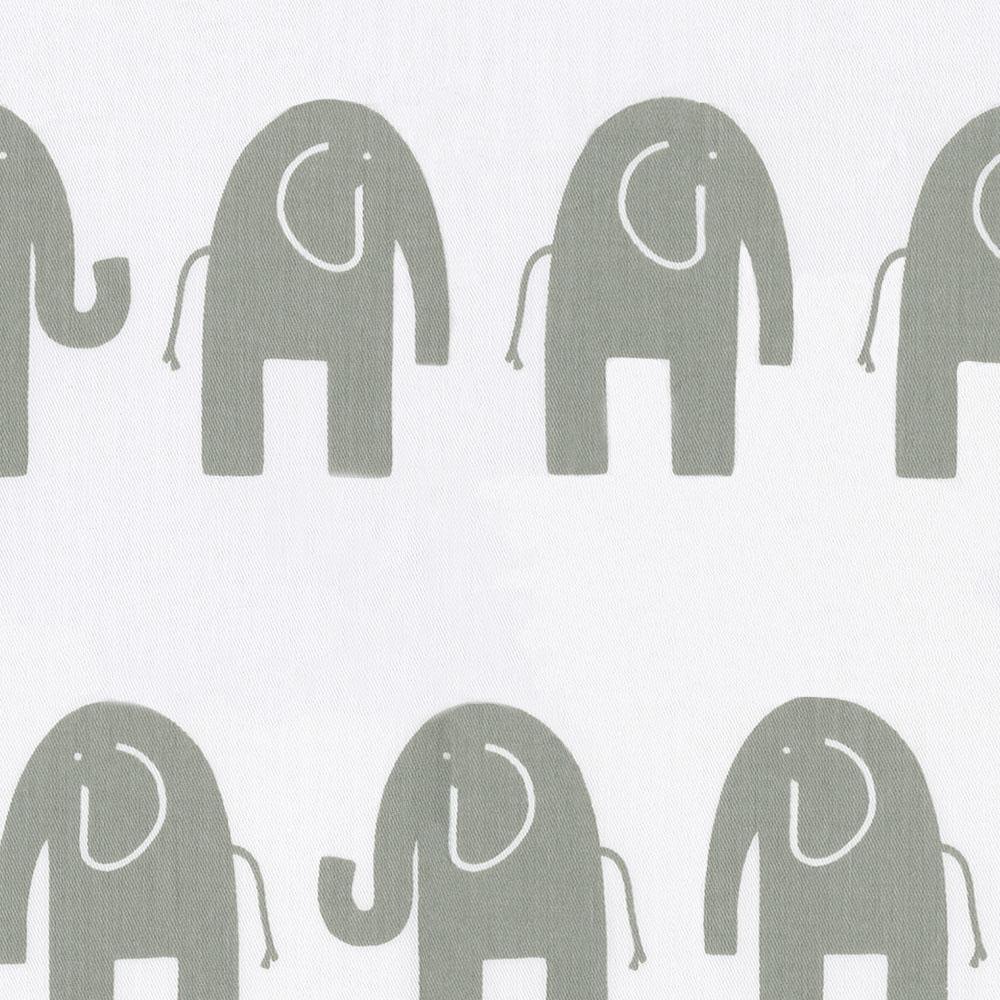 Amazon.com : Carousel Designs White and Gray Elephants Crib Sheet ...