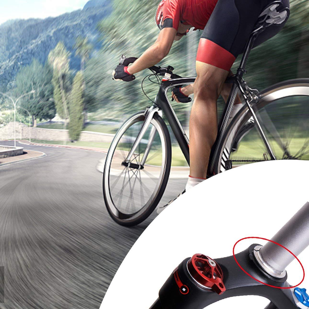 Pr/áctico Casco de Bicicleta Anillo Base Aleaci/ón de Aluminio Di/ámetro del Separador para 28.6 Horquilla Recta 44mm Auricular de Bicicleta