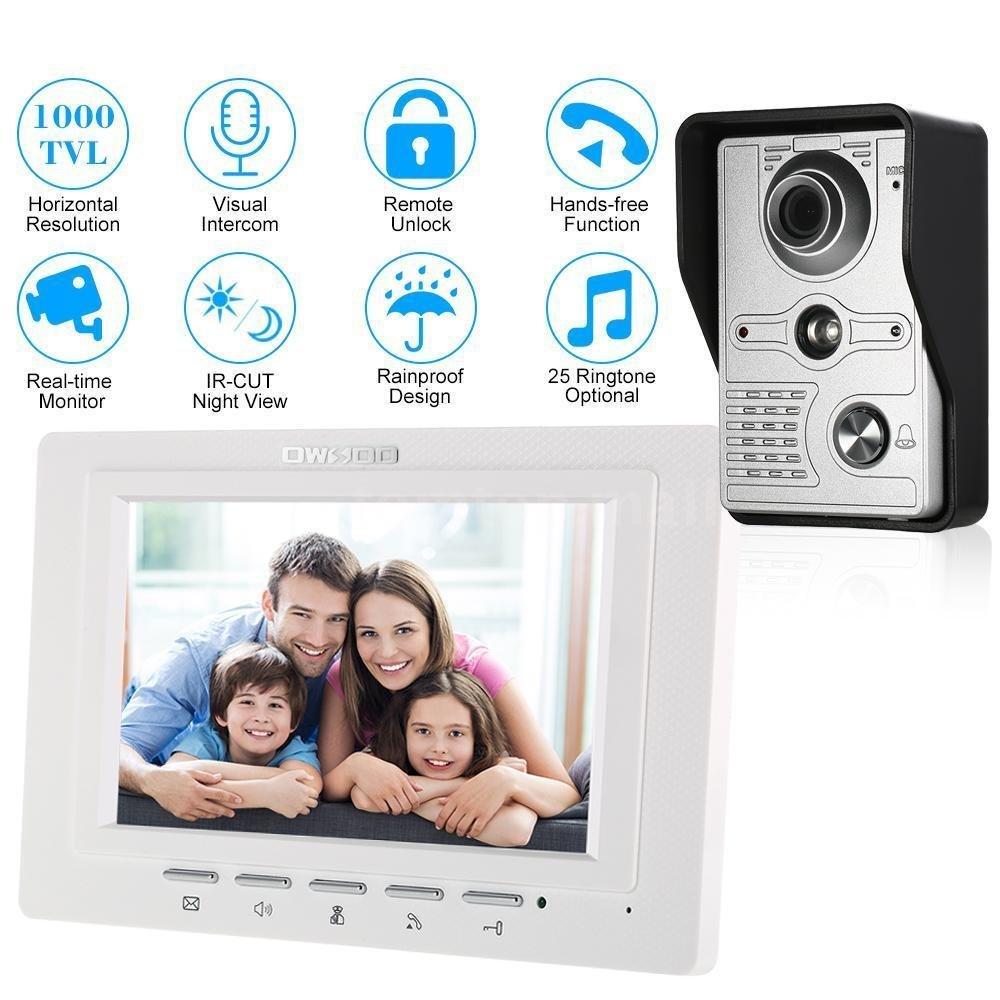 Fidgetfidget Wired Video Doorbell 2way Audio Intercom Visual Ringtone Circuit Schematic Diagram Door Phone System Remote Unlock M9c6 7 Home Kitchen