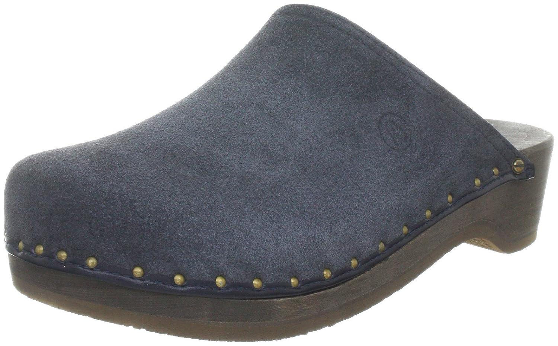 Berkemann Velours-Toeffler Unisex-Erwachsene Clogs  Blau (Blau)