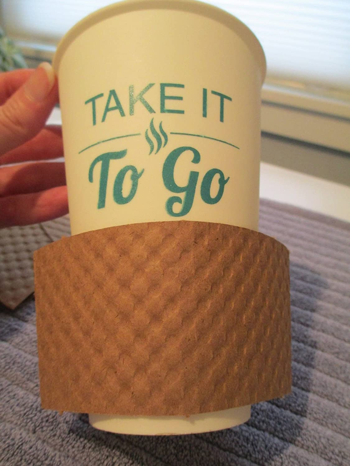 e80fa69cdc3 Kraft coffee Cup Sleeve/Jacket/Clutch - Pre Assembled EcoFriendly Party  Supplies - Disposable Reusable Holder Cardboard Paper - For Hot Drinks  12oz./16 oz.