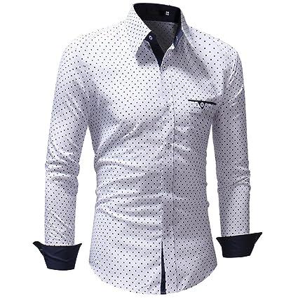 Sunnyuk Hombre de Camisa de Slim Fit para Traje Business ...