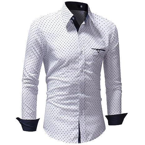 e406c39a8c62 Kayhan Originale Uomo Camicia Slim Fit Facile Stiro Cotone Maniche Lungo S  M L XL XXL 2XL -Modello Quadri