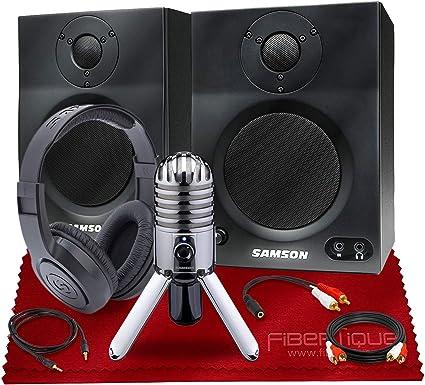 Samson MediaOne BT4 Haut-parleur multim/édia Bluetooth c/âble audio Keepdrum 3 m