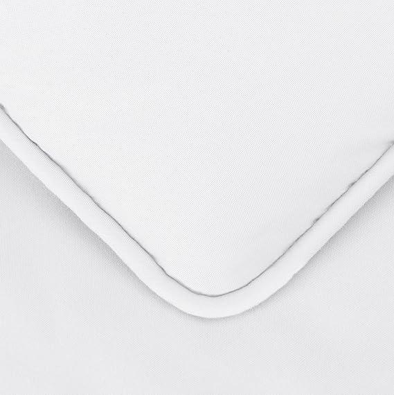 AmazonBasics - Juego de cama con colcha fruncida en pellizco, 260 x 220 cm, Blanco: Amazon.es: Hogar