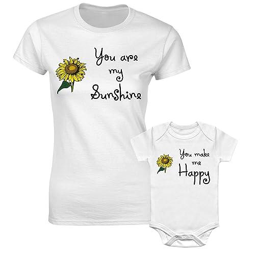 Christmas Mother Mum Son Mummy Daughter Family Matching T Shirts You My Sunshine Make Me Happy