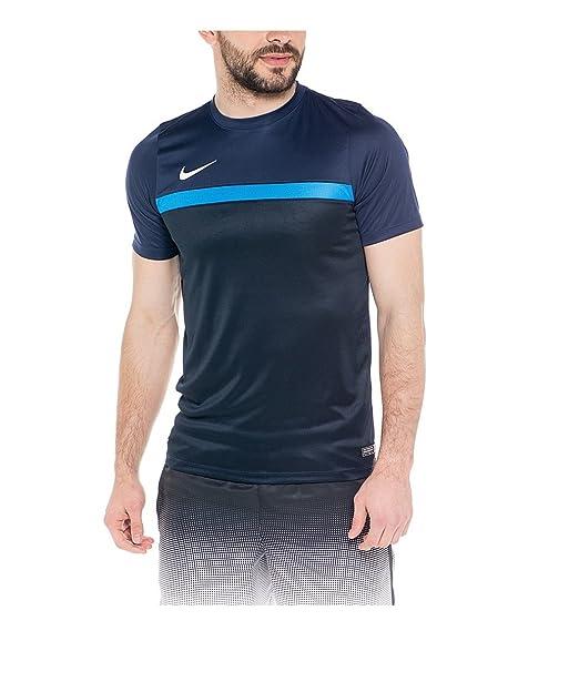 Camiseta de entrenamiento de futbol soccer Nike, negro / azul, XL: Amazon.es: Ropa y accesorios