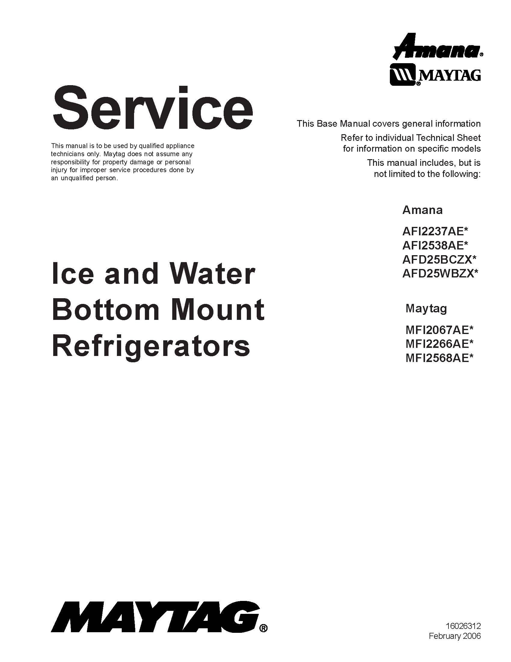 maytag mfi2568aes service manual maytag 0912345256809 amazon com rh amazon com MFI2568AES Recall Water Filter for Maytag MFI2568AES