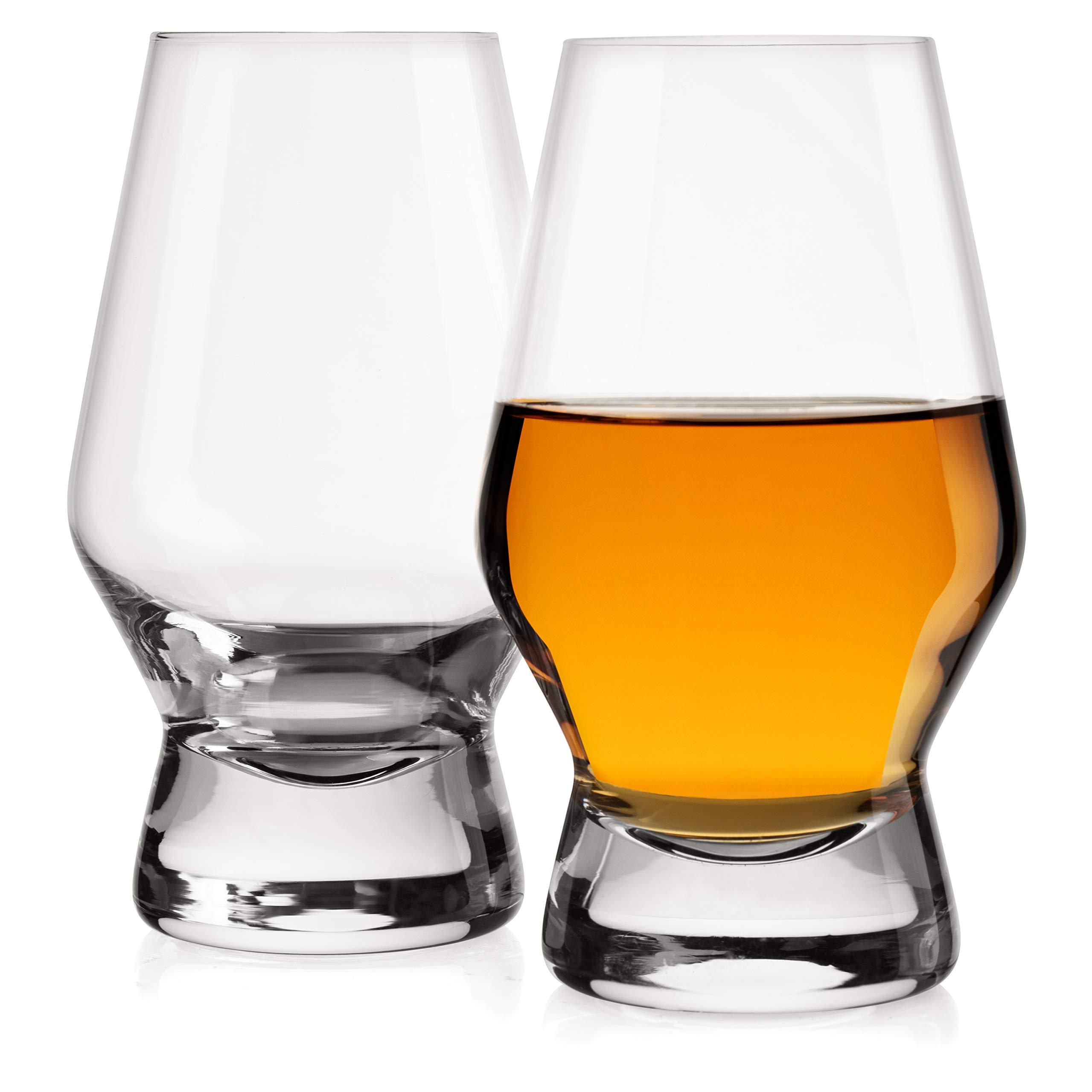 JoyJolt Halo Crystal Whiskey/Scotch Glasses set of 2. Perfect Whisky Glass for Liquor or Bourbon Tumblers. 7.8 Once Whiskey Glasses. by JoyJolt