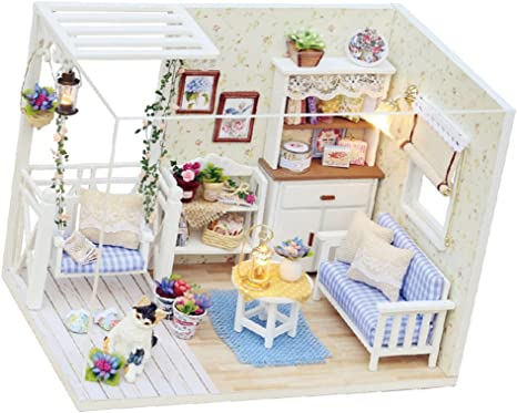 Puppenhaus Noahs Arche Miniatur Druck Kinderzimmer Tapete Blau Set Mit 3