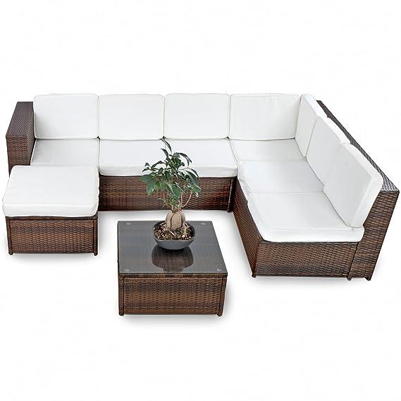 Amazon.de: XINRO 19tlg XXXL Polyrattan Gartenmöbel Lounge Sofa ...