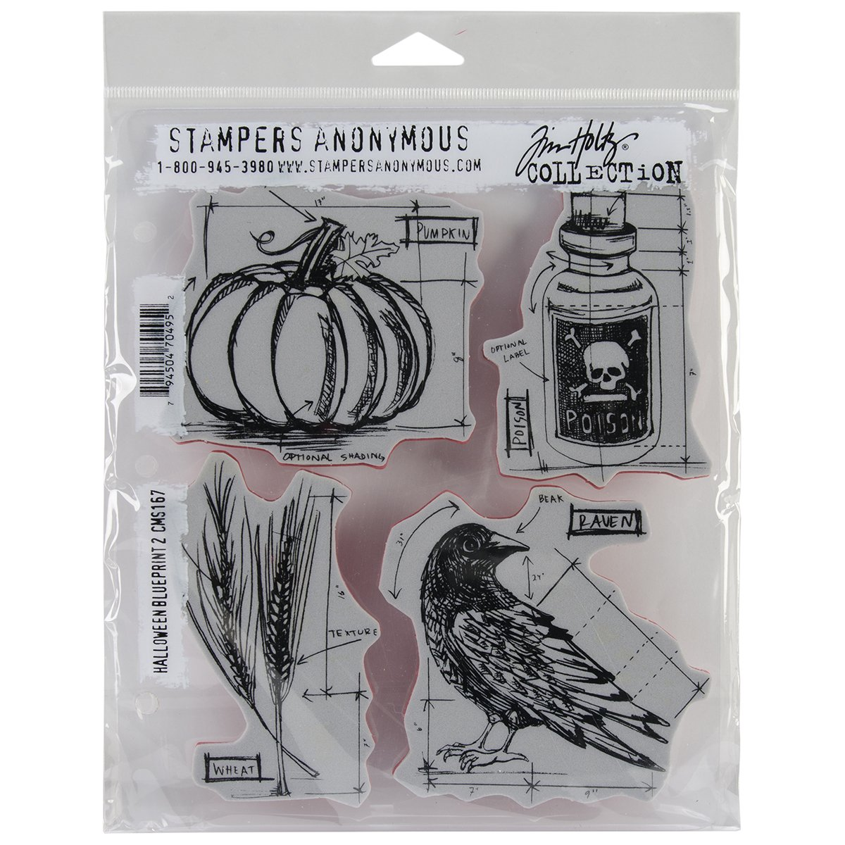 Amazon stampers anonymous tim holtz cling rubber stamp set 7 amazon stampers anonymous tim holtz cling rubber stamp set 7 by 85 inch halloween blueprints arts crafts sewing malvernweather Image collections