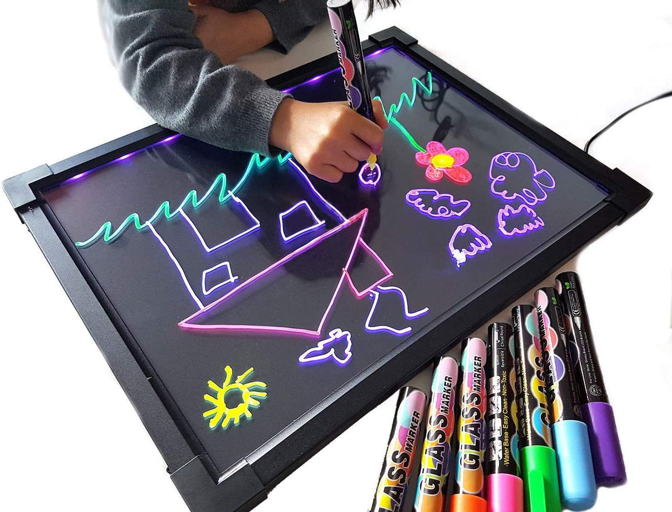 SMILICA Light Energy Childrens Writing Board Electronic LCD Painting Board Graphics Tablets