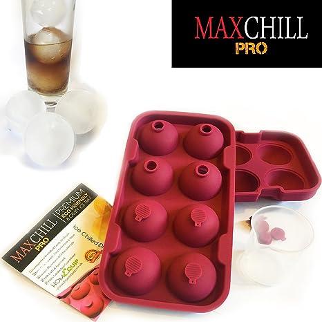 Molde para hacer bolas de hielo MaxChill Pro | Puedes hacer hielo en forma esfé