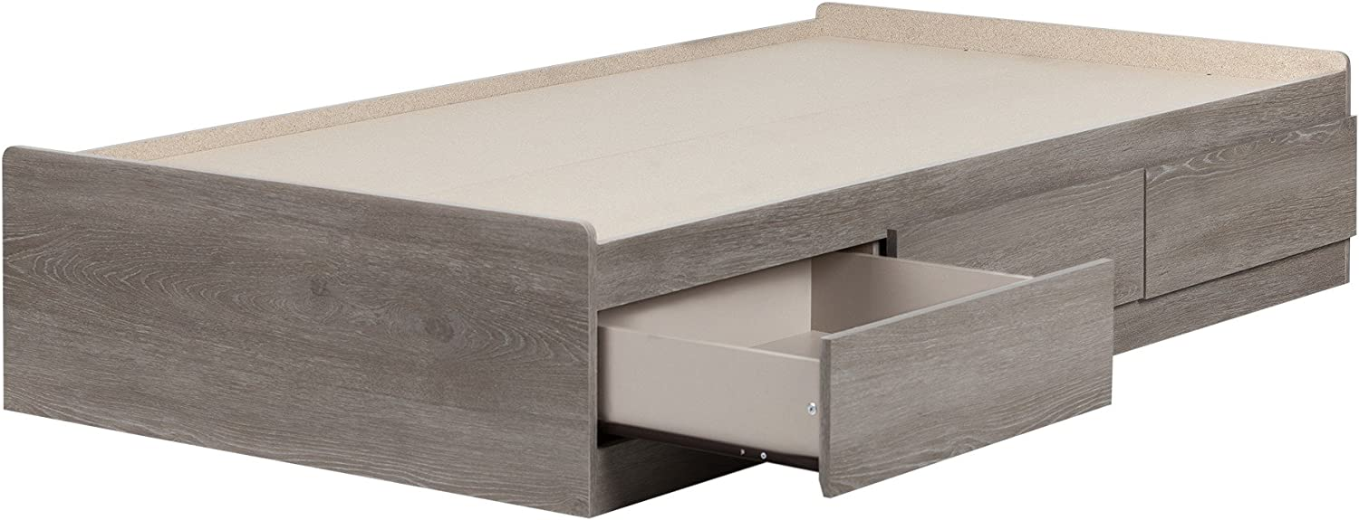 South Shore Savannah Twin Mates Bed with 3 Drawers (39''), Sand Oak