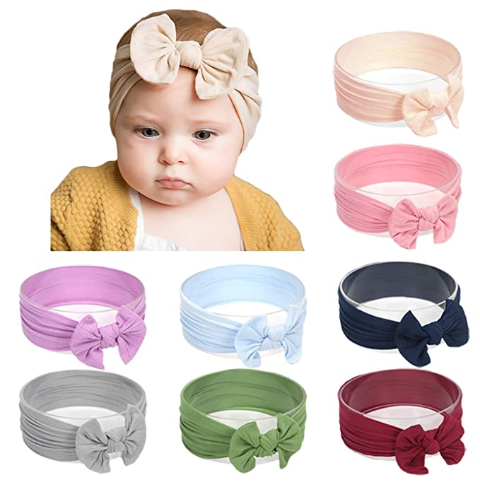 Baby Hair Headband Elastic Band Bow Stretchy Hairband Girls Kids Infant Toddler Women's Accessories Kids' Clothing, Shoes & Accs