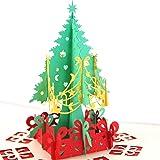 Biglietto Auguri Natale 3D Cartolina Auguri Natale Paper Spiritz Pop Up Christmas Card Biglietto Compleanno