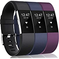 Vancle Replacement Bands Compatible for Fitbit Charge 2 Bands, Soft Silicone Accessory Strap for Fitbit Charge 2 Band/Fitbit Charge 2 Small Large, No Tracker