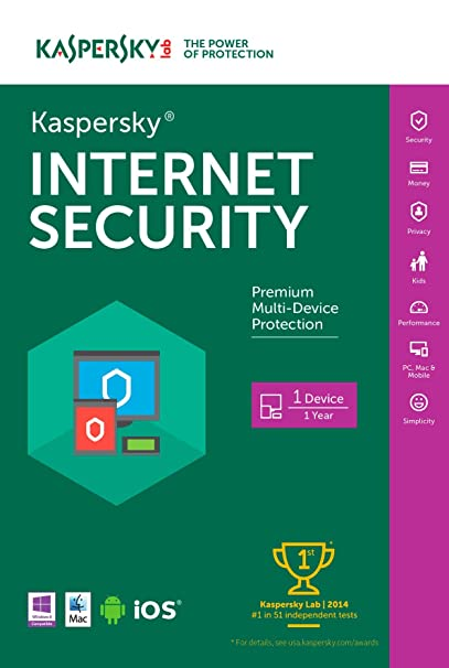 Kaspersky Internet Security 2016 | 3 Devices | 1 Year | Download [Online Code]