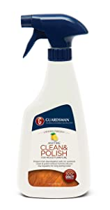 Guardsman Clean & Polish For Wood Furniture - Lemon Fresh - 16 oz - Silicone Free, UV Protection - 461300
