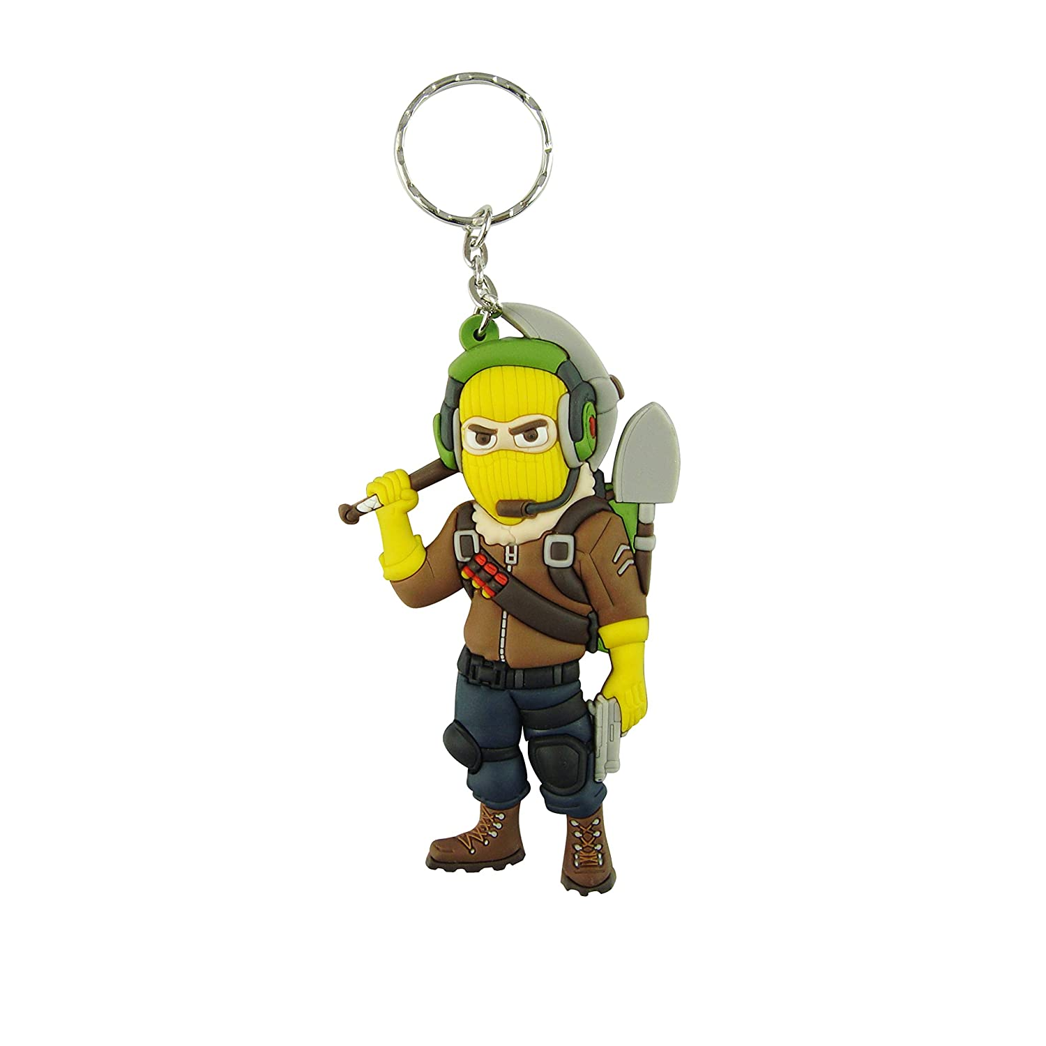 Keychains - Double Sided - 3D - 3.75 Inches - Birthday - Party Favors - Gift Supplies - Gamer - Key Chain - Key Ring (Raptor)