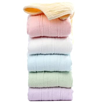 Baby Muslin Washcloths And Towels Natural Bamboo Organic Cotton Baby Wipes Soft Bath Cloths