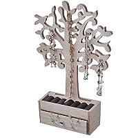 Smyckesträd med låda – naturlig – trä smyckeskrin smyckeskrin smyckeskrin