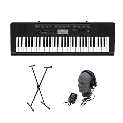Amazon.com: Casio CTK-2300 61-Key Premium Portable Keyboard Package with Headphones, Stand and Power Supply: Musical Instruments